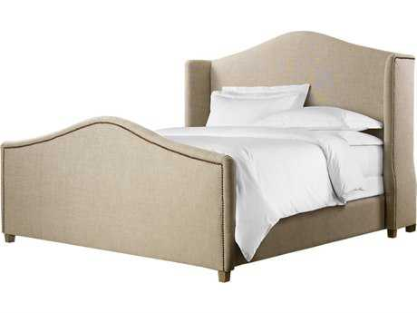 Curations Limited Athena Weathered Natural Ash / Beige Linen Queen Bed