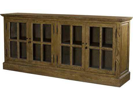 Curations Limited Franklin Natural Oak Large Media Cabinet CLD88100025
