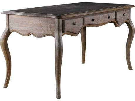 Curations Limited French Weathered Natural Oak Desk CLD88340002