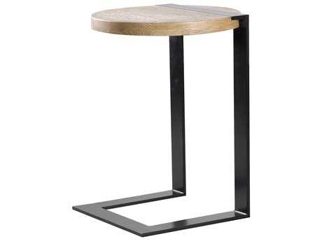 Curations Limited Gap Natural Oak Round Side Table CLD88331021