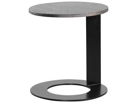 Curations Limited Geneva Vintage Black Round Side Table CLD88331022