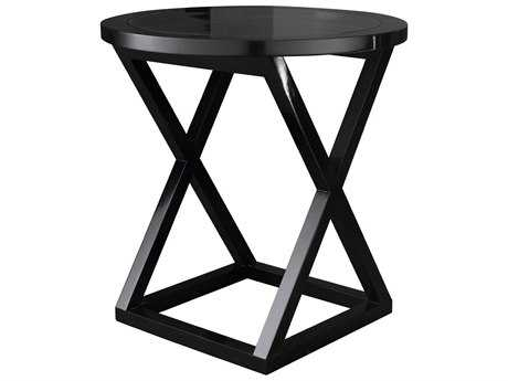 Curations Limited Sete Glossy Black Side Table CLD88331023