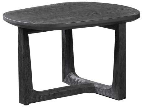 Curations Limited Toulouse Matt Black Oak Small Side Table CLD88320009XS