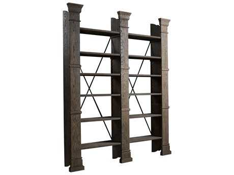 Curations Limited X-Cross Natural Oak Double Bookshelf CLD8810100180