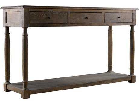 Curations Limited York Weathered Natural Oak Console Table CLD88330004