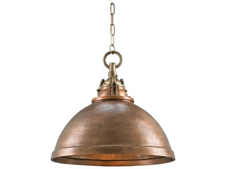 Currey & Company Admiral Antique Brass 20'' Wide Pendant Light CY9857