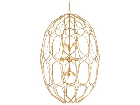 Currey and Company Albert Gold Leaf 12-Light 34'' Wide Chandelier CY90000207