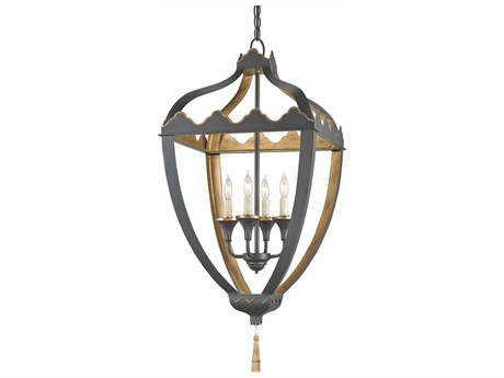 Currey & Company Beaumont Black Four-Light 17'' Wide Mini-Chandelier