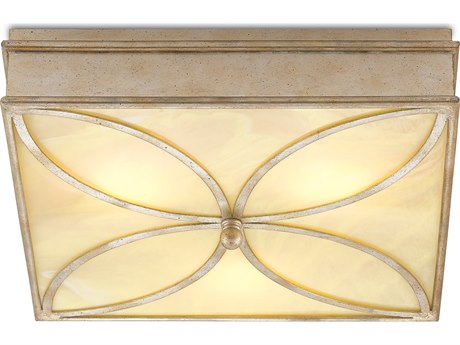 Currey and Company Beeleigh Silver Granello Three-Light 20.5'' Wide Flush Mount CY99990026
