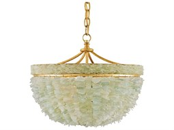 Bayou Gold Seaglass Three-Light 19'' Wide Mini-Chandelier