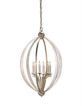 Currey & Company Bella Luna Silver Six-Light 21'' Wide Mini Chandelier CY9483
