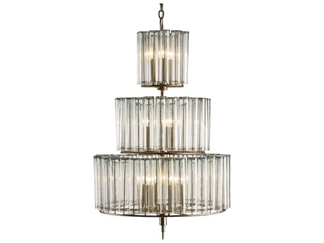 Currey & Company Bevilacqua Silver 12-Light 27'' Wide Grand Chandelier CY9309