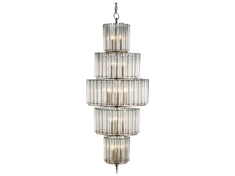 Currey & Company Bevilacqua Silver 18-Light 27'' Wide Grand Chandelier CY9311