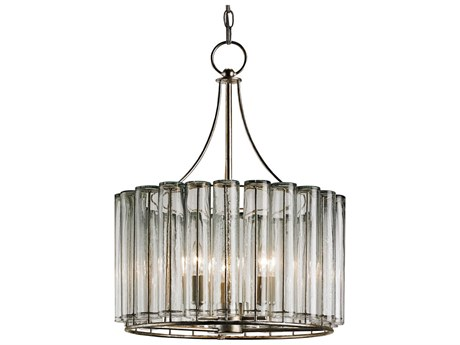 Currey & Company Bevilacqua Silver Three-Light 18'' Wide Mini-Chandelier CY9293