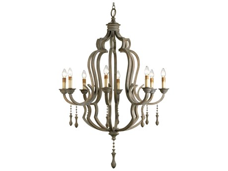 Currey & Company Waterloo Washed Gray 41'' Wide Chandelier CY9010