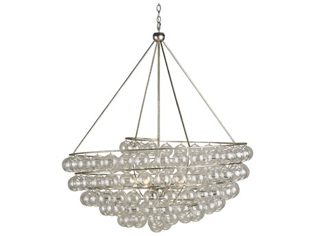 Currey & Company Stratosphere Contemporary Silver Four-Light 45'' Wide Grand Chandelier CY9002