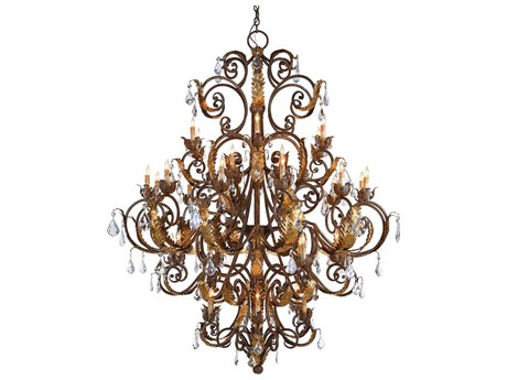 Currey & Company Innsbruck Venetian 39-Light 55'' Wide Grand Chandelier