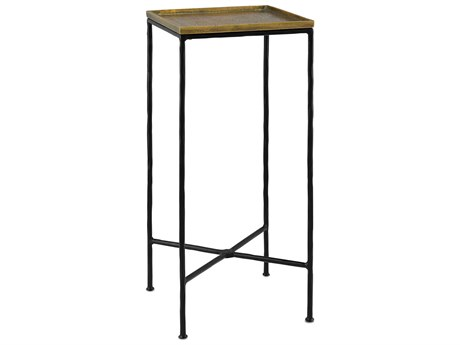 Currey & Company Boyles 12'' Square Black Drinks Table