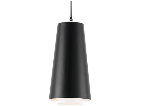 Currey and Company Bunny Williams Satin Black 8'' Wide Bruce Pendant