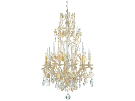 Currey & Company Buttermere Natural Six-Light 28'' Wide Grand Chandelier CY9162