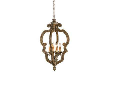 Currey & Company Chancellor Four-Light 20'' Wide Mini-Chandelier CY9942
