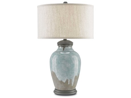 Currey & Company Chatswood Blue & Green Table Lamp