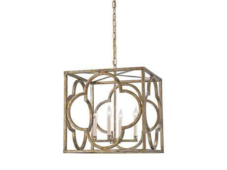 Currey & Company Cosette Gold Four-Light 18'' Wide Mini-Chandelier CY9360