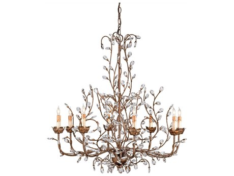 Currey & Company Crystal Bud Cupertino Eight-Light 33'' Wide Grand Chandelier CY9884
