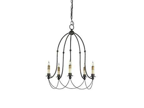 Currey & Company Derrymore Mayfair Five-Light 18'' Wide Mini-Chandelier CY9169