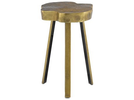 Currey & Company Antique Brass 14'' Wide End Table