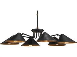 Fainlight Black Six-Light 34'' Wide Chandelier