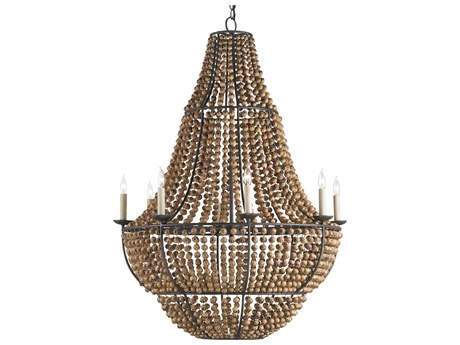 Currey & Company Falconwood Old Bronze Eight-Light 32'' Wide Grand Chandelier CY9502