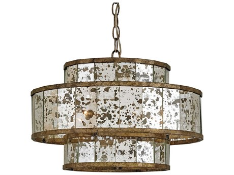 Currey & Company Fantine Pyrite Bronze Four-Light 18'' Wide Mini Chandelier CY9759