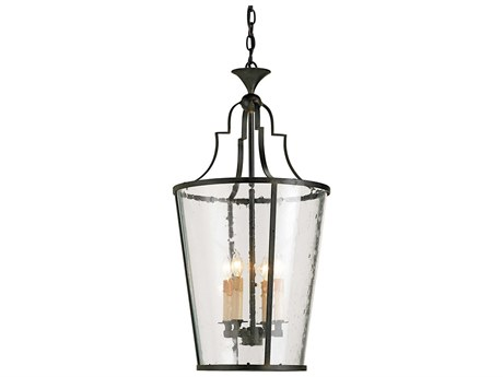 Currey & Company Fergus Old Iron Four Light 15'' Wide Mini-Chandelier