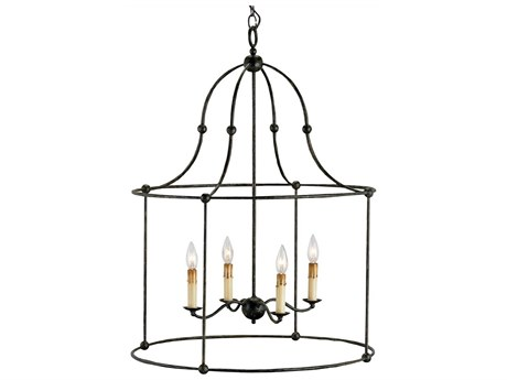 Currey & Company Fitzjames Four-Light 25'' Wide Chandelier CY9160