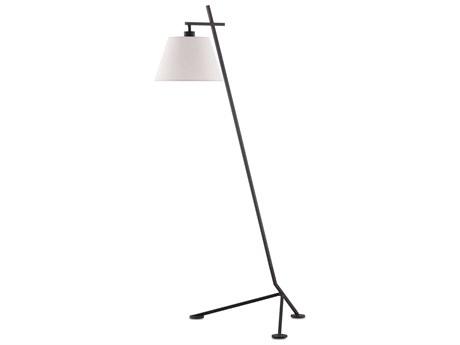 Currey & Company Satin Black Floor Lamp