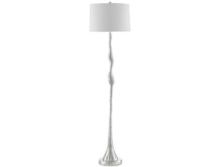 Currey & Company Bright Antique Silver 1-light Floor Lamp