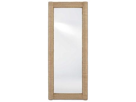 Currey & Company Vilmar Natural 30''W x 74''H Rectangular Floor Mirror