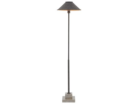 Currey and Company Fudo Mole Black Floor Lamp CY80000016