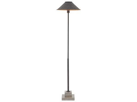Currey and Company Fudo Mole Black Floor Lamp