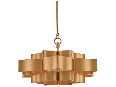 Currey & Company Grand Lotus Antique Gold 20.25'' Wide Pendant Light