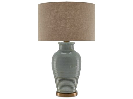 Currey and Company Guinevere Blue-Gray Buffet Lamp CY60000152