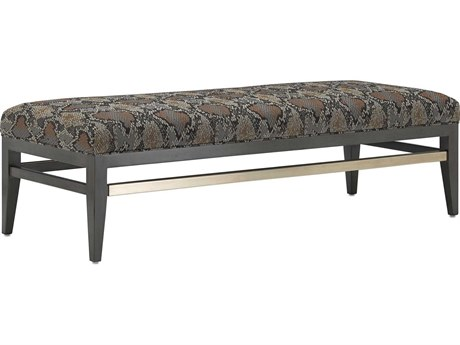 Currey & Company Hugo Battered Gate / Nickel Graphite Accent Bench