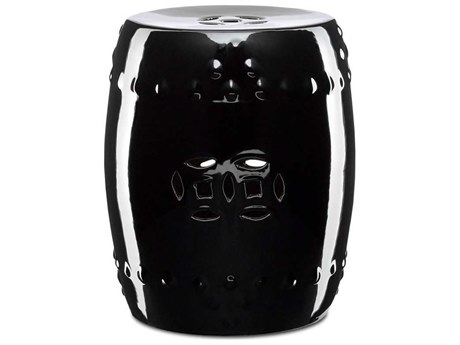 Currey & Company Imperial Black Accent Stool