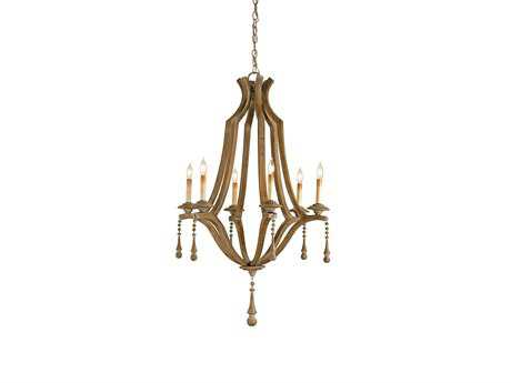 Currey & Company Simplicity Six-Light 25'' Wide Chandelier CY9256