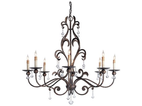 Currey & Company Pompeii Cupertino Eight-Light 35'' Wide Chandelier CY9380