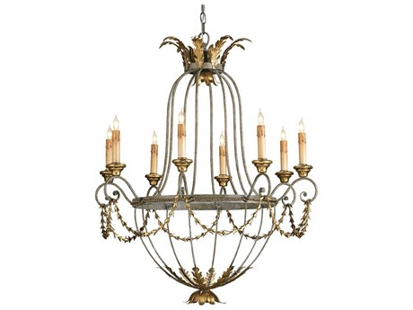 Currey & Company Elegance Gold Eight-Light 29'' Wide Chandelier CY9948