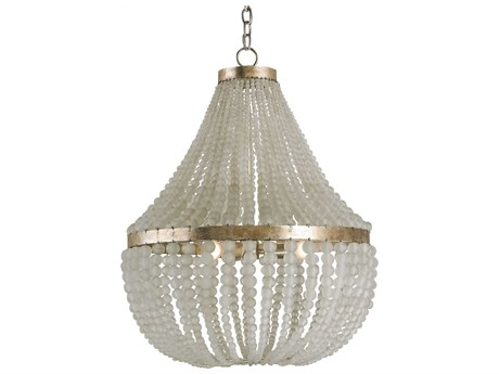 Currey & Company Chanteuse Silver Granello Three-Light 25'' Wide Grand Chandelier CY9202