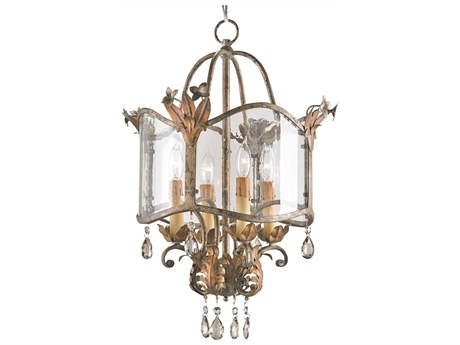 Currey & Company Winterthur Zara Gold Four Light 21'' Wide Mini-Chandelier CY9357