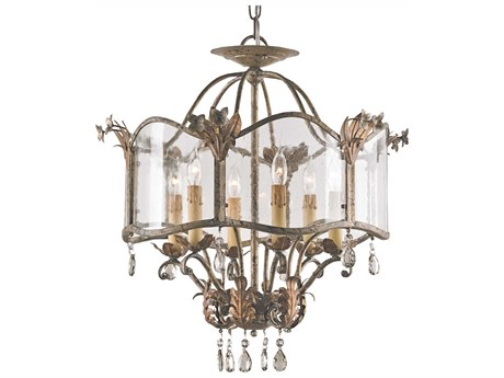 Currey & Company Zara Gold Six-Light 20'' Wide Mini-Chandelier CY9387